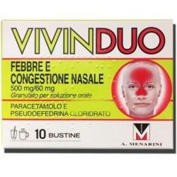 A.menarini Ind.far - VIVINDUO FEBBRE CONGESTIONE NASALE 10 BUSTINE - 044921029