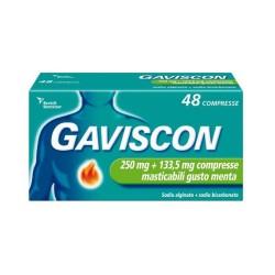 Reckitt Benckiser - GAVISCON 48 COMPRESSE MASTICABILI AROMA MENTA 250+133,5 MG - 024352181