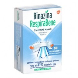 GLAXOSMITHKLINE C.HEALTH.SPA - RINAZINA RESPIRABENE TRASPARENTI 30CEROTTI - 972708869