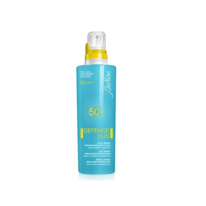 Bionike Defence Sun Solare Latte Spray Spf 50+ Protezione Molto Alta 特高度保护防晒乳液喷雾SPF 50+ 200 Ml