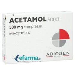 Abiogen - ACETAMOL ADULTI 20 COMPRESSE 500 MG - 023475054