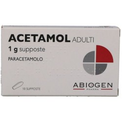 Abiogen - ACETAMOL ADULTI 10 SUPPOSTE 1G - 023475066