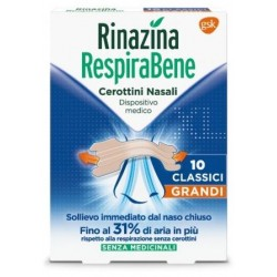 GLAXOSMITHKLINE C.HEALTH.SPA - RINAZINA RESPIRABENE CEROTTI NASALI CLASSICI GRANDI 10 CEROTTI - 972708794