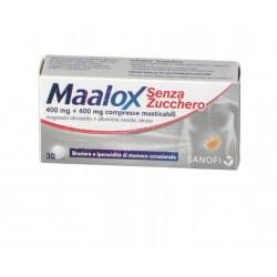 Sanofi Spa - MAALOX SENZA/ZUCCHERO 30 COMPRESSE MASTICABILI 400+400MG - 020702294