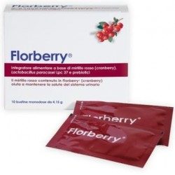 Dompe` Farmaceutic - FLORBERRY INTEGRATORE VIE URINARIE 10 BUSTINE - 930325509