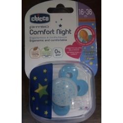 Chicco - Ch Succh Comfort Luminescente in Cauciù 16-36M 1PZ 智高发光的橡胶奶嘴 16到36个月 一只装 - 970802120