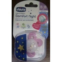 Chicco - Succhietto Chicco Physio Comfort Night Silicone Rosa 16-36 m - 970711242