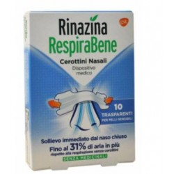 GLAXOSMITHKLINE C.HEALTH.SPA - RINAZINA RESPIRA BENE 10 CEROTTINI NASALI - 972708756