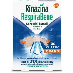 GLAXOSMITHKLINE C.HEALTH.SPA - RINAZINA RESPIRABENE CLASSICI GRANDI 30 CEROTTI - 972708820