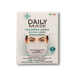 DIVA - DAILY MASK MASCHERINA LAVABILE ADULTI 5 PEZZI - 980638783