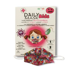 DIVA - COMFORT MASK PROTECTION KIDS 3-6 anni FEMMINA 1 pz lavabile + 3 filtri lavabili fino a 3 volte - 980638858