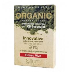 Silium - Silium Rosso Vivo Organic Powder Color Con Bustina Olii Essenziali 40 G + 20 Ml - 971482892