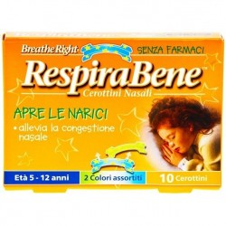 GLAXOSMITHKLINE C.HEALTH.SPA - RESPIRABENE CEROTTI NASALI BAMBINI 10 PEZZI - 905726079