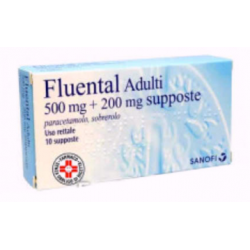 Sanofi Spa - FLUENTAL ADULTI 10 SUPPOSTE 500MG+200MG - 022837025