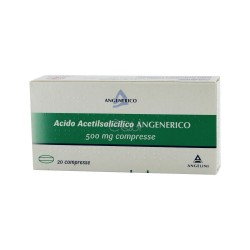 Angelini Spa - ACIDO ACETILSALICILICO ANGELINI 20 COMPRESSE 500 MG - 030009017