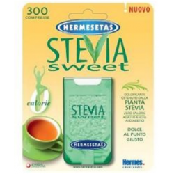 Dompe` Farmaceutic - HERMESETAS STEVIA 300 COMPRESSE - 922327162