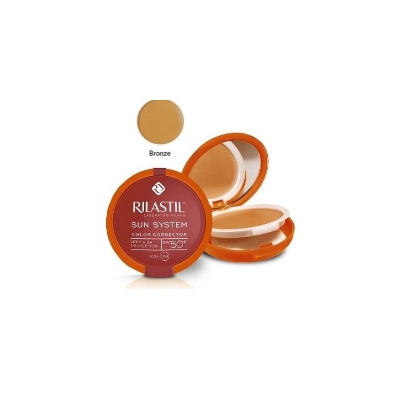 Rilastil Sun System Photo Protection Therapy Spf50+ Compatto Bronze 俪纳斯防晒修色铜色粉饼10 Ml
