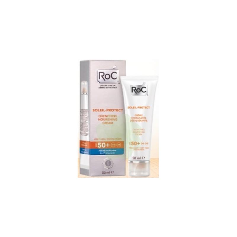 Roc - ROC SOLEIL PROTECT CREMA VISO NUTRIENTE SPF50+ TUTTI I TIPI DI PELLE 50 ML - 926569322