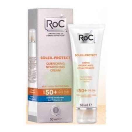 Roc Solari Soleil Protexion + Crema Viso Nutriente Spf50+ 50 Ml