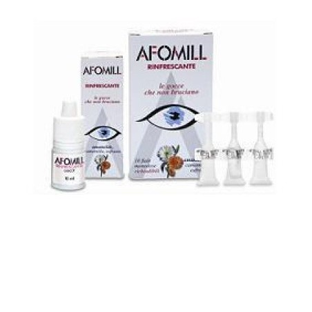Gocce Oculari Afomill Rinfrescante 10 Fiale Monodose 0,5 Ml