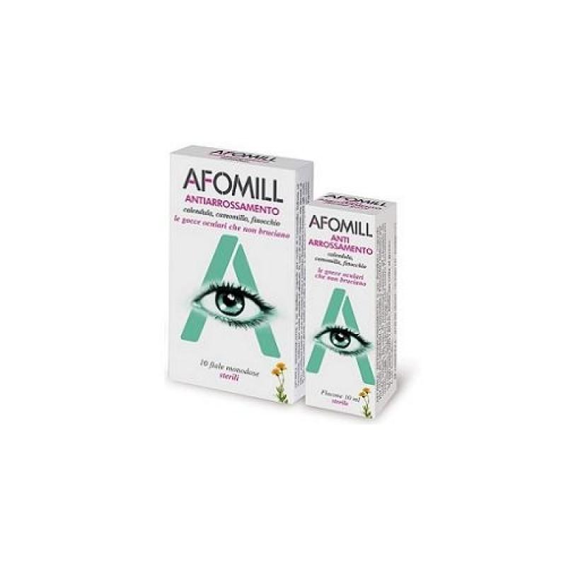 Gocce Oculari Afomill Antiarrossamento 10 Fiale Monodose 0,5 Ml