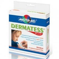 Master Aid - Garza Dermatess Plus 10x10 12 Pezzi - 901028845