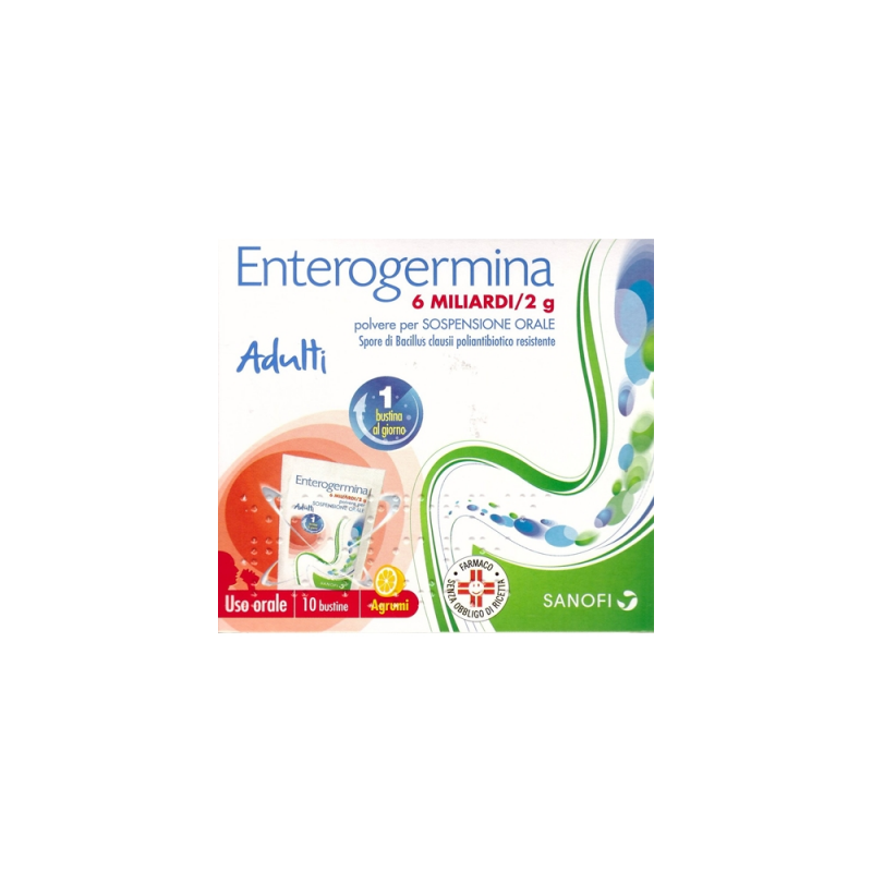 Enterogermina 6 Miliardi Sospensione Orale10 Buste 2g