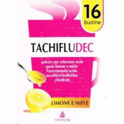 Angelini - Tachifludec 16 bustine limone e miele - 034358059