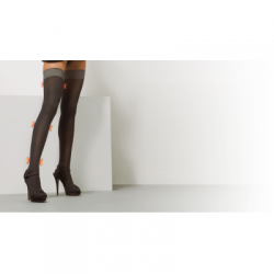 Solidea - Marilyn Sheer Calza Autoreggente Nero 70 denari taglia 3 - 906016795