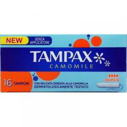 Tampax - Tampax Camomile Senza Applicatore Super Scatola 16 Pezzi - 925821807