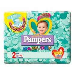 Pampers - Pampers Baby-Dry Mini tg 2 - 925944668
