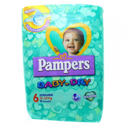 Pampers - Pampers Baby-Dry Extralarge 16-30 kg - 925944720