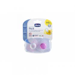 Chicco - Chicco Succhietto Micro Bimba 0-2 mesi 2 Pezzi 智高奶嘴0到2个月 两只装 - 971209212
