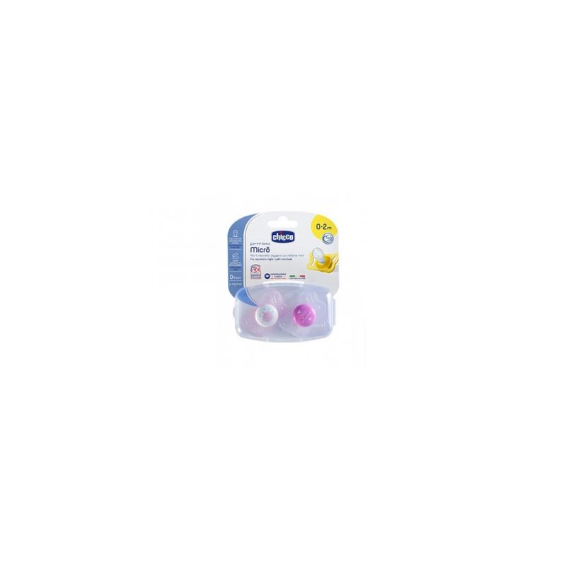 Chicco Succhietto Micro Bimba 0-2 mesi 2 Pezzi 智高奶嘴0到2个月 两只装