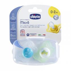 Chicco - Chicco Succhietto Micro Boy 0-2 Mesi 2 Pezzi 智高男孩奶嘴0到2个月 两只装 - 971209224