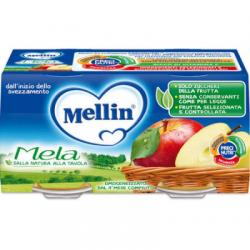 Mellin - Mellin Omogeneizzato Mela 100 G 2 Pezzi - 908890801