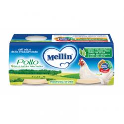 Mellin - Mellin Omogeneizzato Pollo 2 X 80 G - 927288769