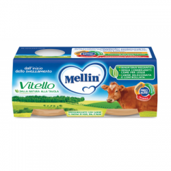 Mellin - Mellin Omogeneizzato Vitello 2 X 80 G - 927288771