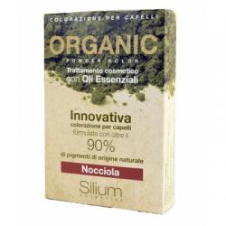 Silium - Silum Nocciola Organic Powder Color Con Bustina Olii Essenziali 40 G + 20 Ml - 971482904