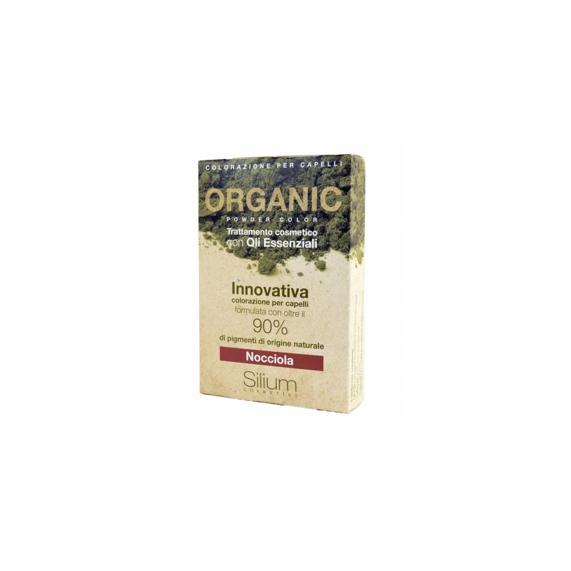 Silum Nocciola Organic Powder Color Con Bustina Olii Essenziali 40 G + 20 Ml