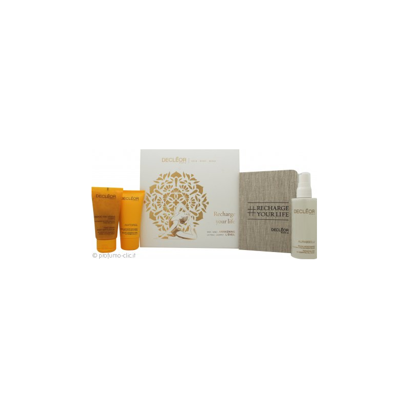 Decleor Cofanetto Recharge Your Life Awakening Crema Viso+Lozione Corpo+Gommage
