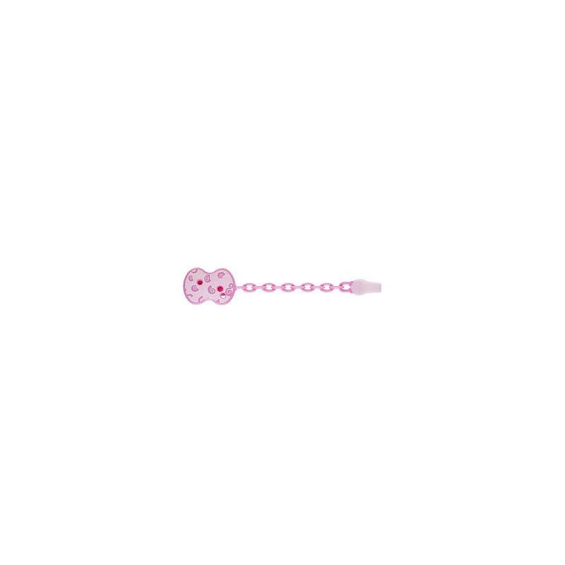 Chicco - CHICCO CLIP SALVA SUCCHIETTO CON CATENELLA ROSA - 922884782