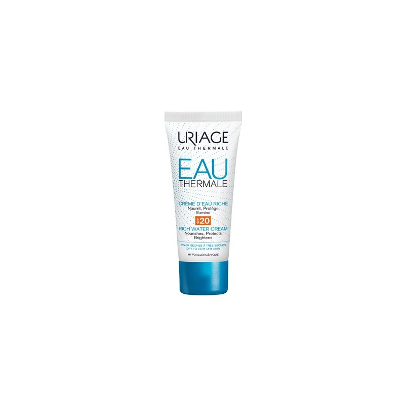 Uriage - Uriage Eau Thermale Crema All'Acqua Ricca SPF20 40ml - 973729534