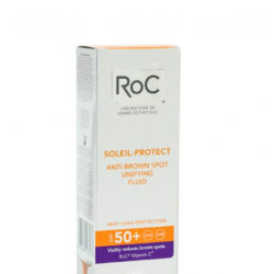 Roc - ROC SOLEIL FLUIDO SOLARE ANTIMACCHIE BRUNE SPF 50+ UNIFORMANTE VISO 50 ML - 926569346