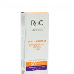 Roc - ROC SOLEIL FLUIDO SOLARE ANTIMACCHIE BRUNE SPF 50+ UNIFORMANTE VISO 50 ML - 926569346