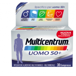 Pfizer - Multicentrum Uomo 50+ multivitaminico-multiminerale 30 compresse - 938657071