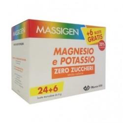 Marco Viti Farmace - Massigen Sali Minerali Magnesio Potassio Integratore Zero Calorie 24+6 Buste - 936900380