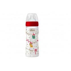 Chicco - Chicco Biberon Benessere Silicone Natale 350ml - 973515556