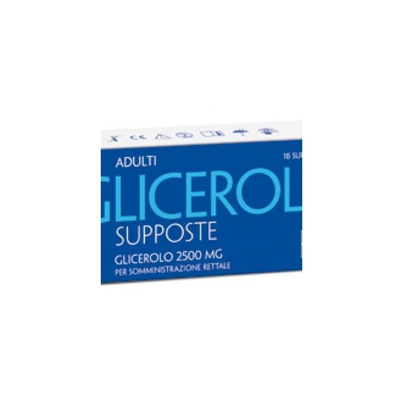 Glicerolo Supposte per Adulti 18 supposte 2250mg
