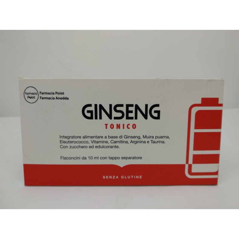 Ginseng Tonico 10 flaconcini x 10ml by Farmaciapoint